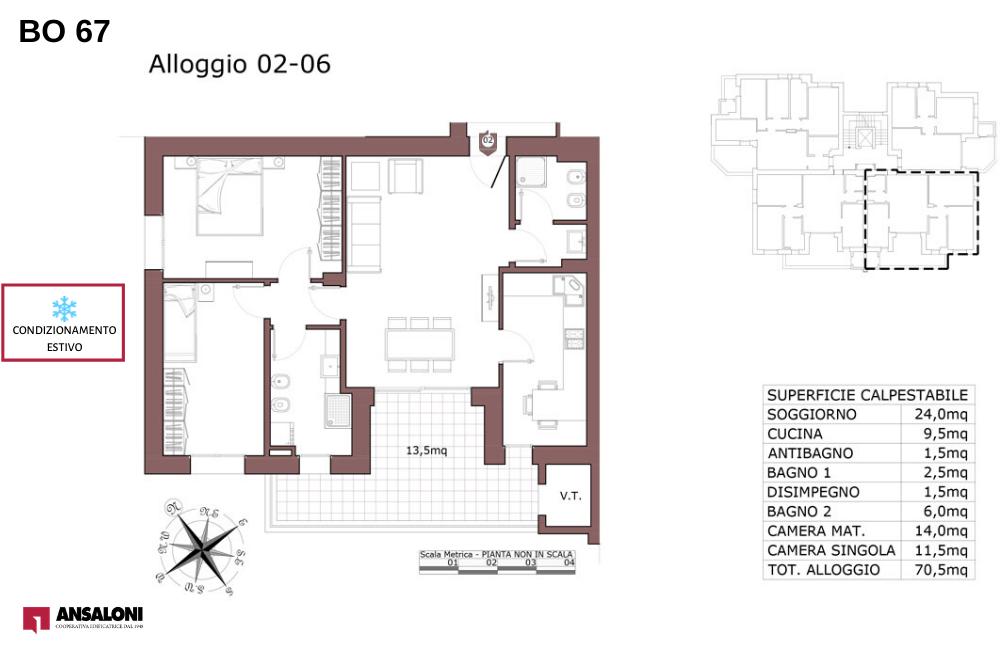 Bologna appartamento 6 – Via de la Birra 21- BO 67