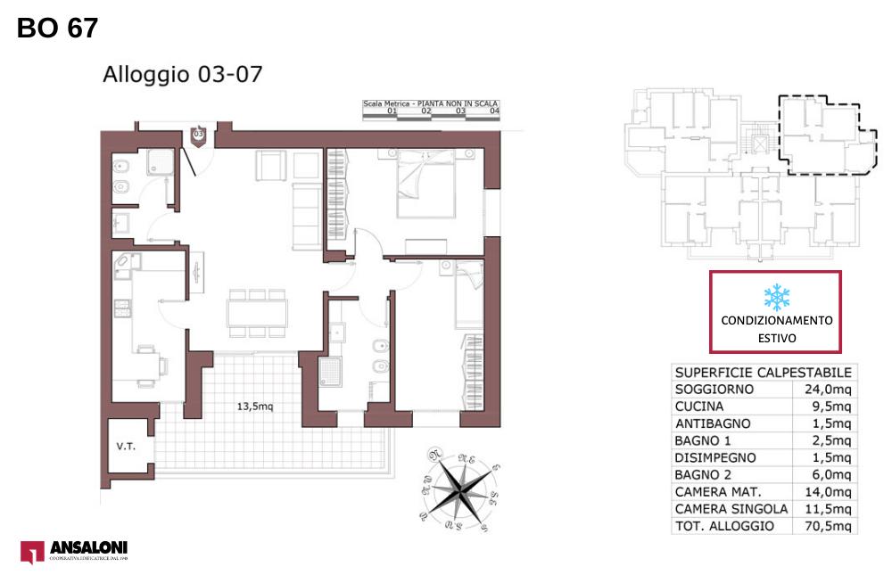 pianta appartamento 3-7