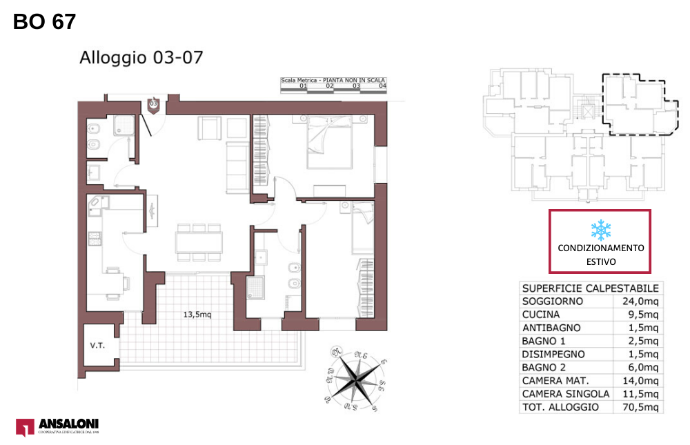 Bologna appartamento 7 – Via de la Birra 21- BO 67
