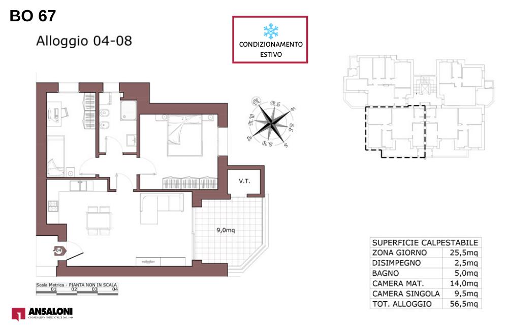 Bologna appartamento 8 – Via de la Birra 21- BO 67