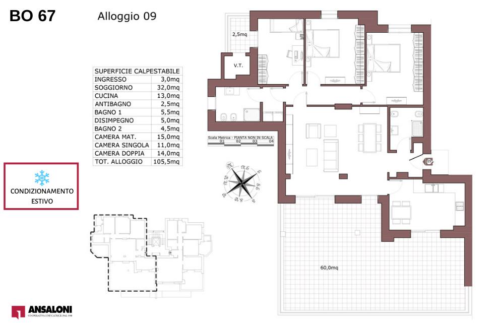Bologna appartamento 9 – Via de la Birra 21- BO 67