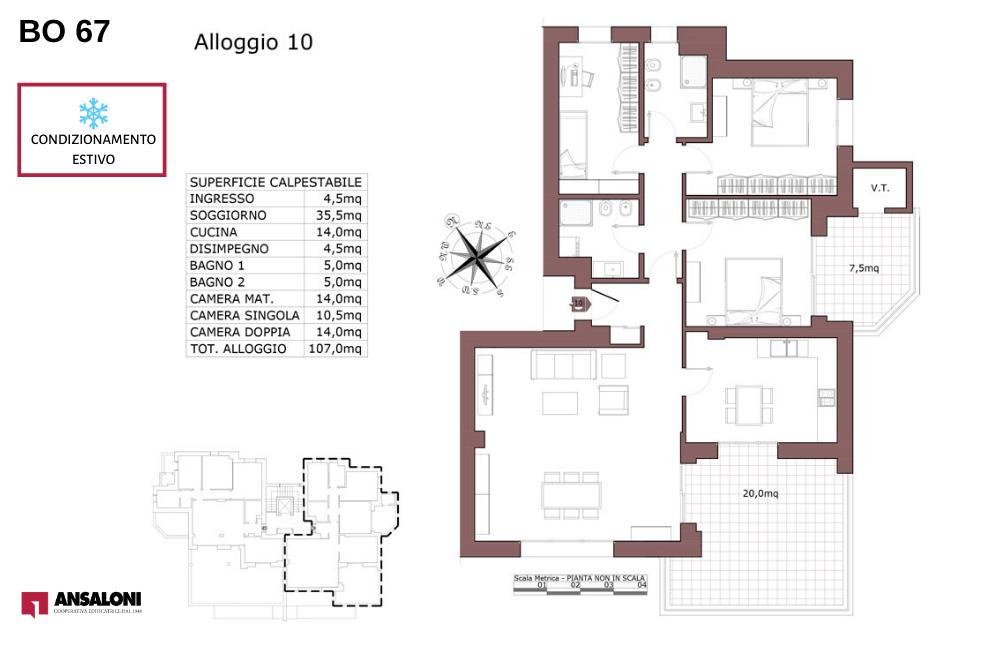 Bologna appartamento 10 – Via de la Birra 21- BO 67