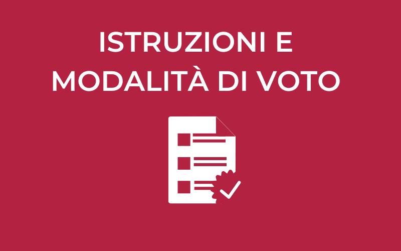 Istruzioni e modalità di voto