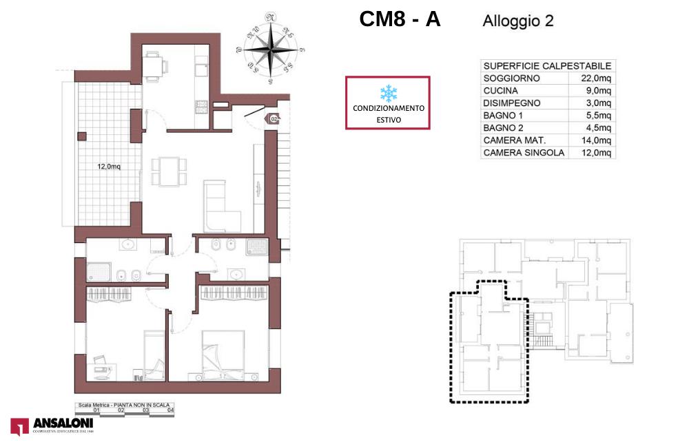 Castel Maggiore appartamento 2 A – Via Angelelli angolo Via Noce – CM 8AB