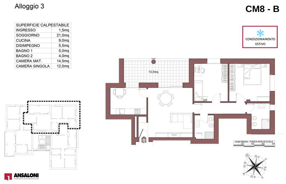 Castel Maggiore appartamento 3 B – Via Angelelli angolo Via Noce – CM 8AB