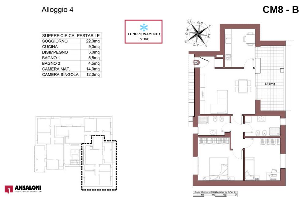 Castel Maggiore appartamento 4 B – Via Angelelli angolo Via Noce – CM 8AB