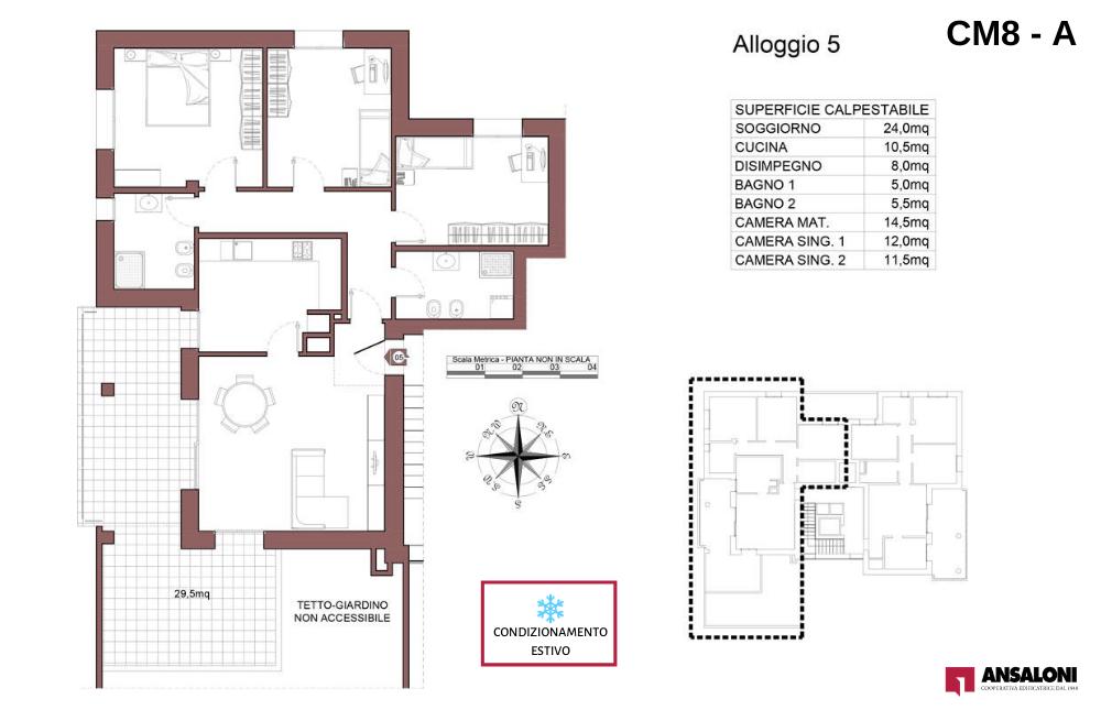 Castel Maggiore appartamento 5 A – Via Angelelli angolo Via Noce – CM 8AB
