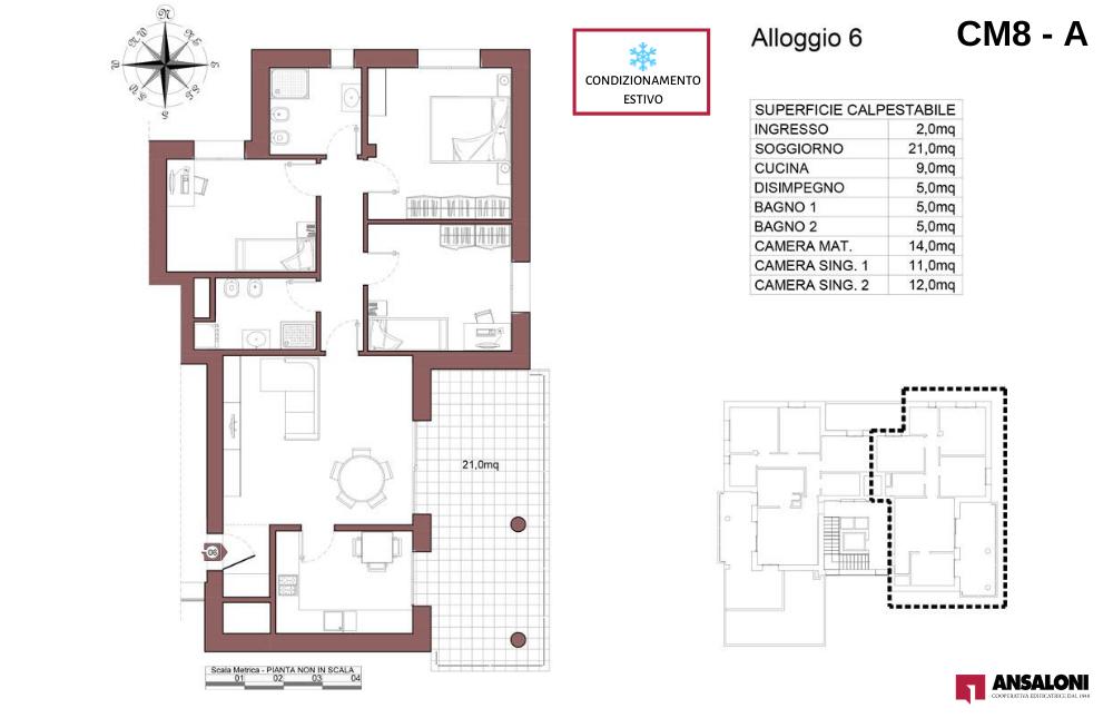 Castel Maggiore appartamento 6 A – Via Angelelli angolo Via Noce – CM 8AB