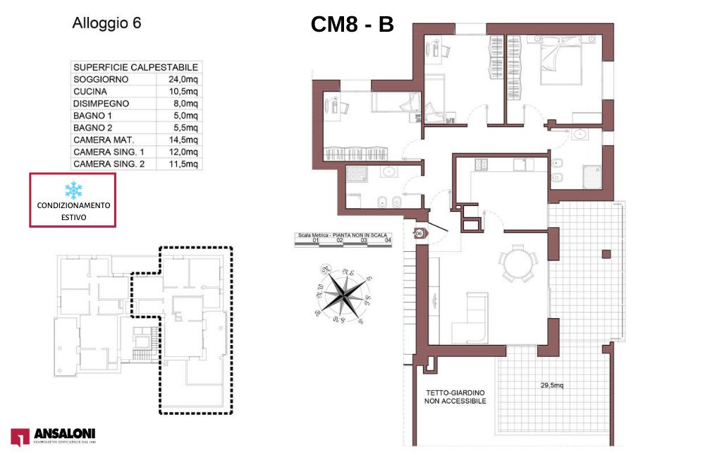 Castel Maggiore appartamento 6 B – Via Angelelli angolo Via Noce – CM 8AB