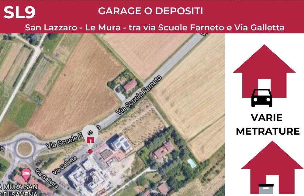 GARAGE E DEPOSITI – SL 9 – Le Mura – San Lazzaro (BO)