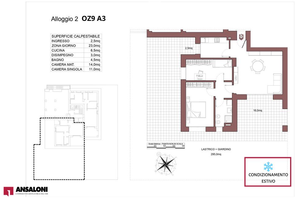 Ozzano dell'Emilia appartamento 2- OZ9 A3 – Via Giuseppe Impastato – OZ9 A3