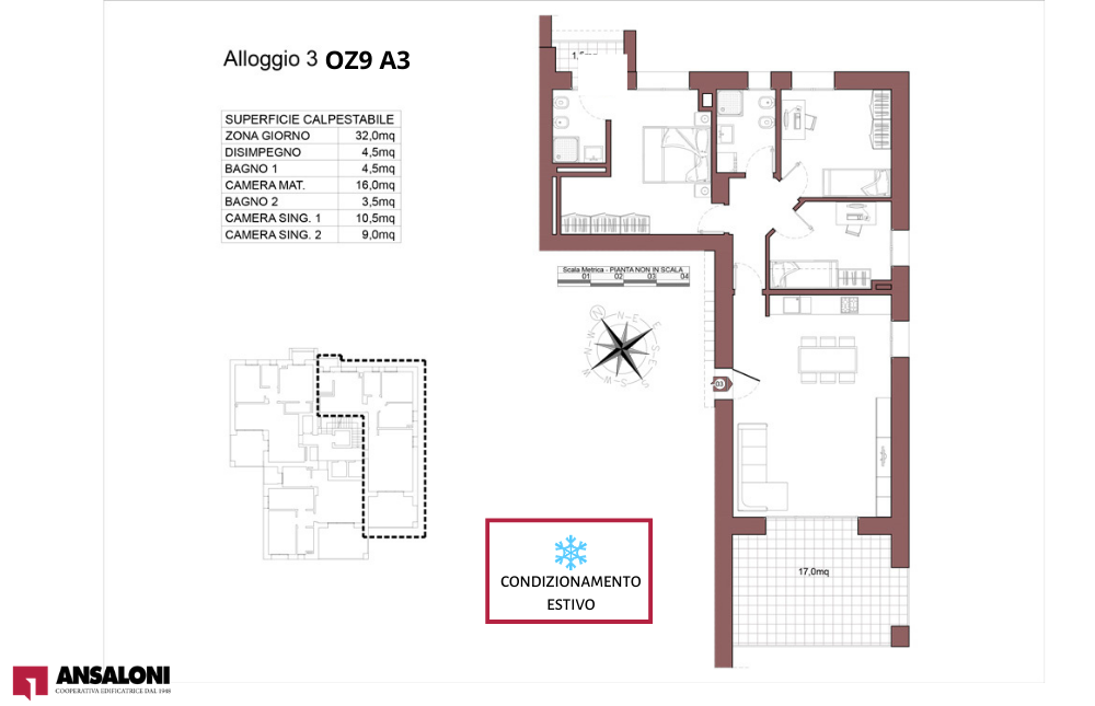 Ozzano dell'Emilia appartamento 3- OZ9 A3 – Via Giuseppe Impastato – OZ9 A3