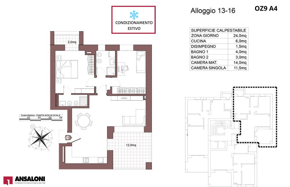 Ozzano dell'Emilia appartamento 13- OZ9 A4 – Via Giuseppe Impastato – OZ9 A4