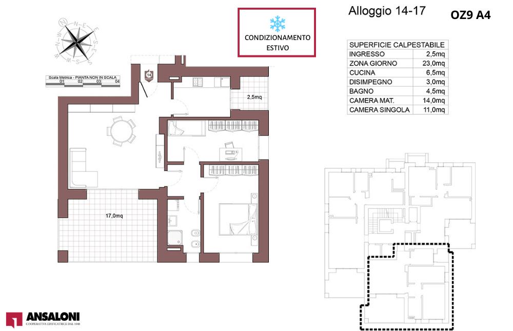 Ozzano dell'Emilia appartamento 17- OZ9 A4 – Via Giuseppe Impastato – OZ9 A4