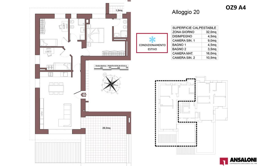 Ozzano dell'Emilia appartamento 20- OZ9 A4 – Via Giuseppe Impastato – OZ9 A4