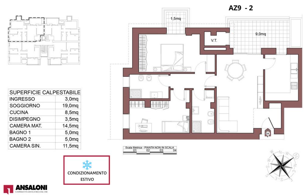 Anzola dell'Emilia appartamento 2 – tra Via Costa Torquato e Via Lodi – AZ9