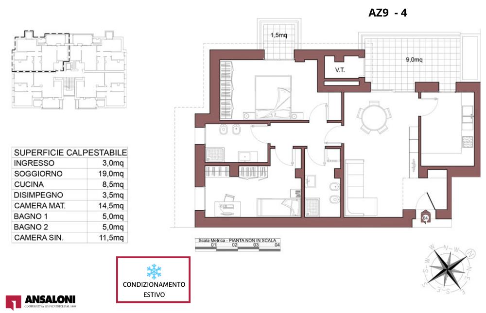 Anzola dell'Emilia appartamento 4 – tra Via Costa Torquato e Via Lodi – AZ9