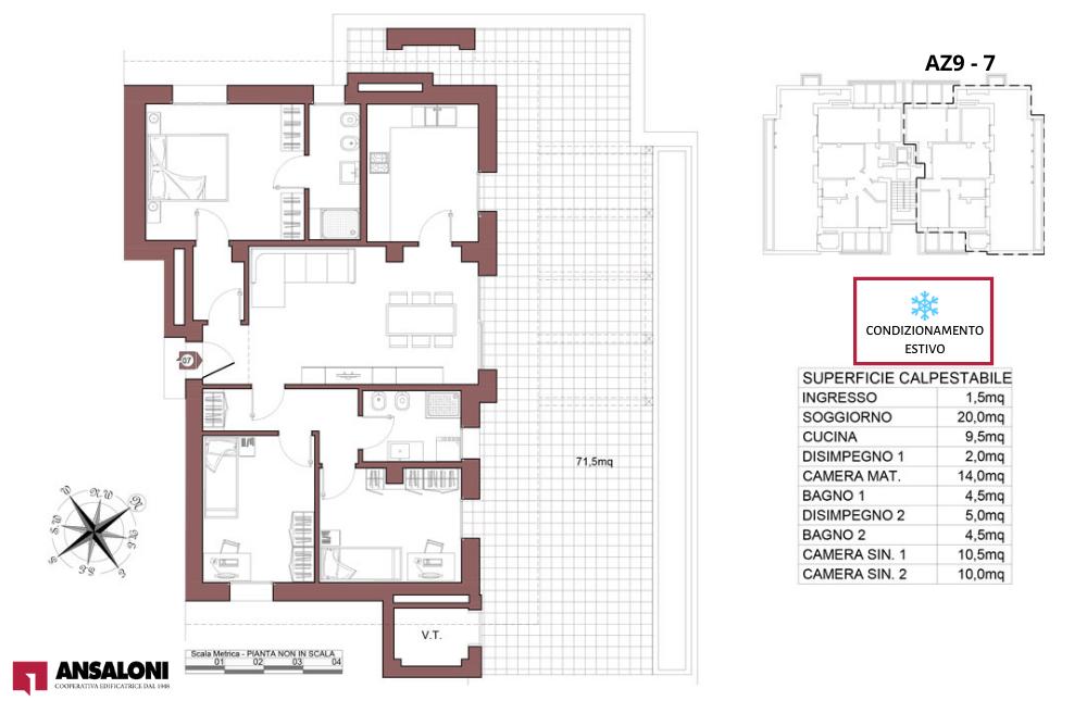 Anzola dell'Emilia appartamento 7 – tra Via Costa Torquato e Via Lodi – AZ9